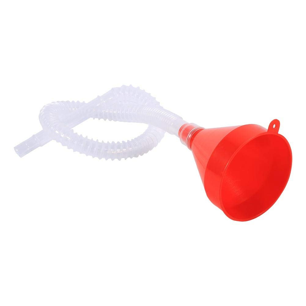 Vehicle Plastic Filling Funnel, Universal Fuel Funnels with Soft Pipe Spout Pour Oil Tool Petrol Diesel Elerose