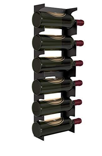 Y-Furniture Design Wall Mount Steel Wine Rack (6 Bottles) (Mat Black) For Sale