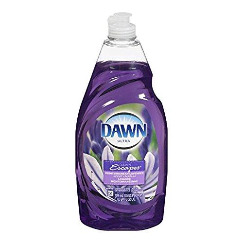 3 Pk. Dawn Ultra Escapes Dishwashing Liquid, Mediterranean Lavender, 21.6 Fl Oz (64.8 Fl Oz Total) (Dawn Dish Soap Lavender)