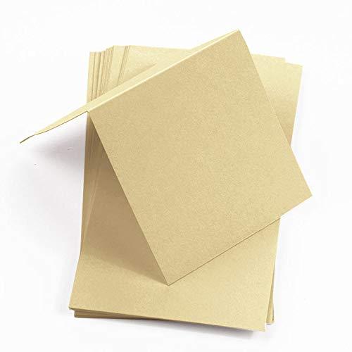 Matte Wheat Square Place Cards, Colors Matt, 111lb, 25 Pack