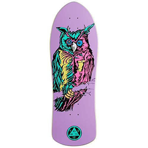 - Welcome Owl On Crossbone Skateboard Deck - Purple - 10.00