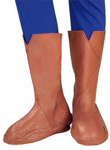 Rubies Superman Returns Child's Deluxe Molded Costume Boot (Red Superman Boots)