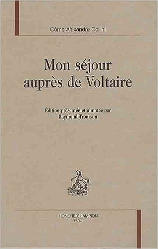 Livre Mon séjour auprès de Voltaire pdf epub