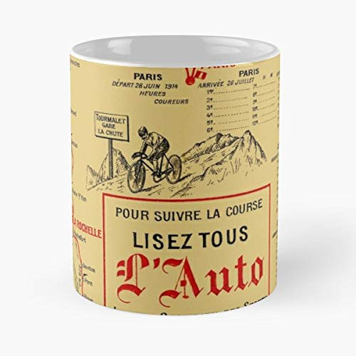 (Tour De France Map Of Vintage Antique The Best Gift For Holidays Coffee Mugs)