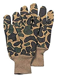 CAO outdoor product Sportsman's Fleece Lined Jersey Gloves Camouflage