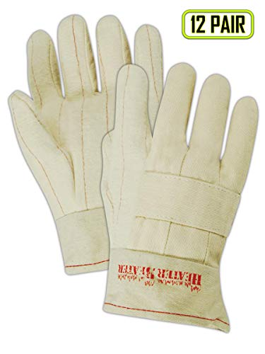 Large 29 oz Hot Mill Gloves with a Knuckle Strap and Band Top Cuff (398KBT) - 12 ()