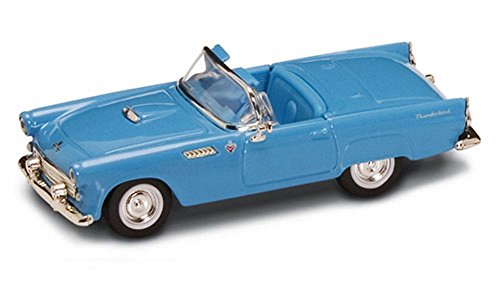 Road Signature 1955 Ford Thunderbird Convertible, Blue 94228 - 1/43 Scale Diecast Model Toy Car