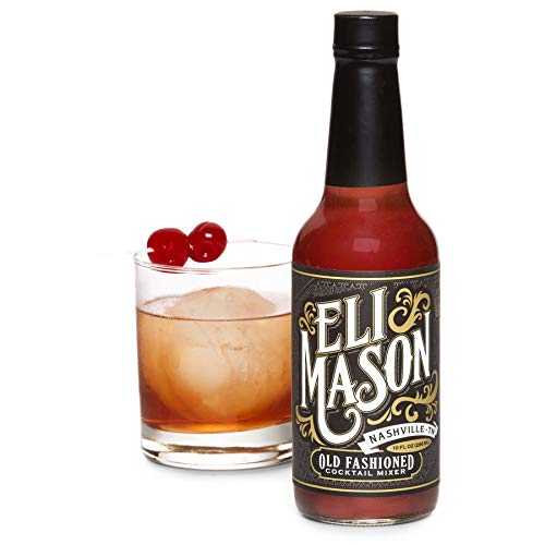 Eli Mason Old Fashioned Cocktail Mixer - All-natural Old Fashioned Cocktail Syrup - Uses Real Cane Sugar & Proprietary Blend Of Cocktail Bitters - Made In USA, Small Batch Cocktail Mixes - 10 Ounces (The Best Old Fashioned)