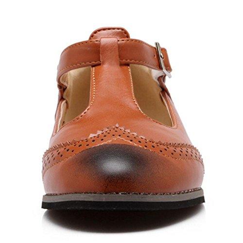 RAZAMAZA Jane Basses Mary Brown Boucle Classique Chaussures Femmes rpw4nqxrT
