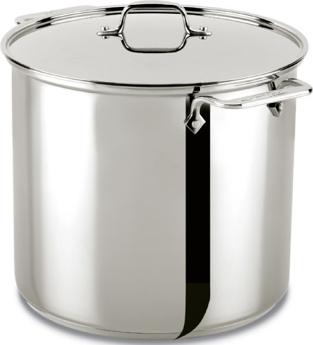 All-Clad 59916 Stainless Steel Dishwasher Safe Stockpot Cookware, 16-Quart, Silver Dishwasher Safe Stock Pot