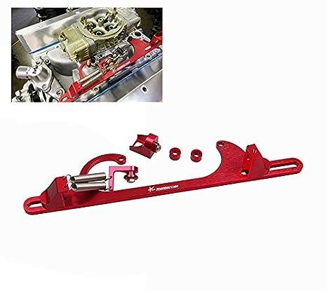 amazon com: ryanstar throttle cable bracket 4150 4160 series throttle  brackets billet aluminum red: automotive