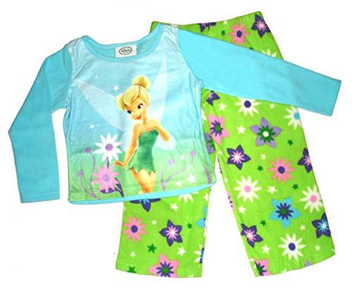 Tinkerbell Disney Fairy Cozy Fleece Pajama Set~ Girls SZ 4 - Tinkerbell Fleece Pajama