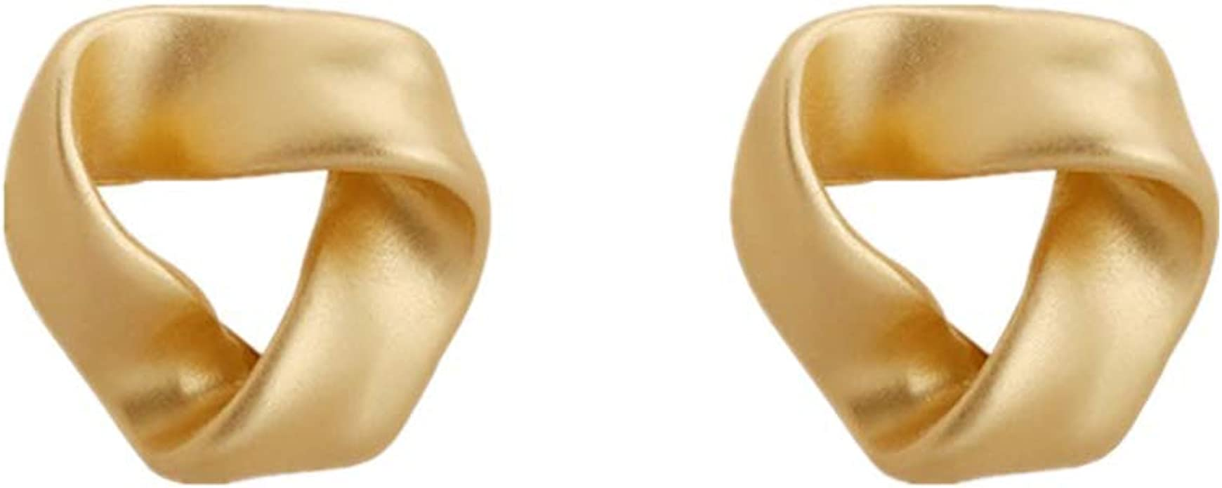 Twist Love Knot Stud Earrings for Women Rose Gold Plated Heart Post Earrings for Girls