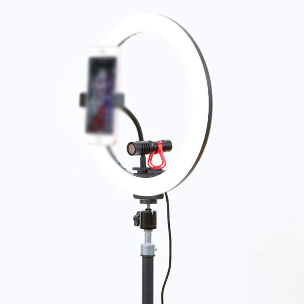 WYQSZ a Fill Light with a Microphone, with 3 Light Modes and for Mobile Phone Holder with Most Smartphones, Used for Make Up, Self Timer Lighting, Photography, Live Broadcast, Blog by WYQSZ