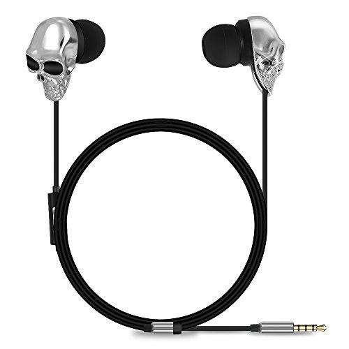 Buy skull earphones silver