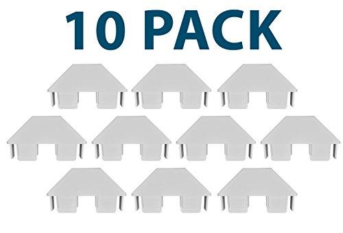 White 7/8 Inch X 3 Inch PVC Vinyl Dog-Ear Picket Caps | 10 Pack | AWCP-PIC-.875X3DE-10PK