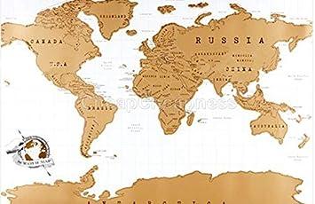 Nuevo 82 * 58cm arañazos Diseño Negro Mapa Mundial de Viajes rascar Mapa Mejor Regalo for el Mapa Escuela de Educación: Amazon.es: Electrónica