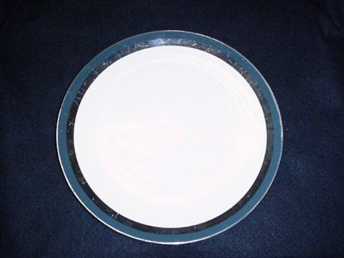 (FLINTRIDGE SALAD PLATE CONTESSA BLACK SLIGHT WEAR)