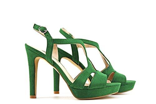MODELISA Sandalia Tacón Plataforma Mujer Verde