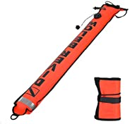 Diving Marker, 4FT High Visibility Inflatable Scuba Diving Marker, SMB Surface Signal Marker Buoy for Diving