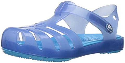 crocs Girls' Isabella PS Sandal, Dusty Blue, 8 M US Toddler - Blue Croc