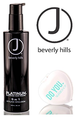 J Beverly Hills J Beverly Hills Platinum Renewing Hair Regime 5 In 1 Styling Emulsion with Sleek Compact Mirror , 8 Ounce, 8 Ounce