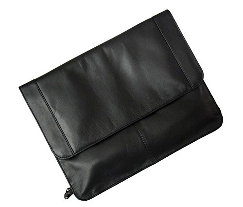 (Winn International Harness Cowhide Leather Underarm Portfolio in Black)