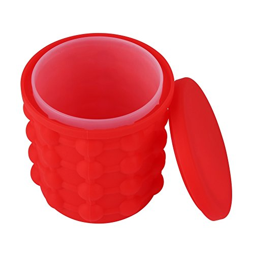Price comparison product image New Ice Cube Maker Genie silicone, Ice bucket The Revolutionary Space Saving Ice Cube Maker BaiMoon (A2)
