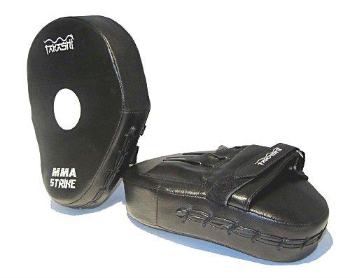 Takashi MMA - ANATOMICAL Curved Focus Pads , Hook & Jab Strike Pads Curved 'STRIKE'