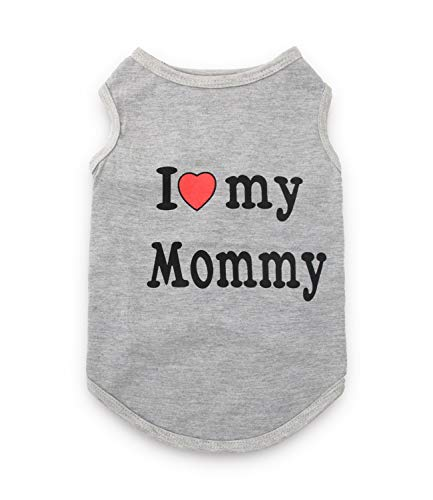 (Furberry Dog Shirts I Love My Mommy Pattern Puppy Clothes for Small Dogs, Medium,)