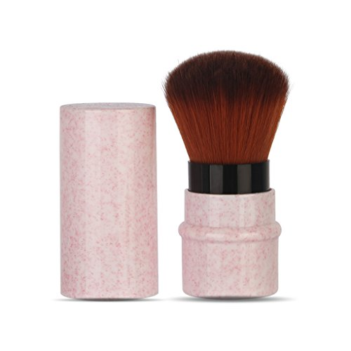 LHEI Pink Retractable Kabuki Brush Makeup Brush Foundation Travel Retractable Kabuki Brush Blush Brushes Move New Extensible Concealer Brushes Cosmetic Tool