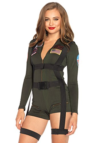 Top Female Halloween Costumes (Leg Avenue Women's Top Gun Romper)