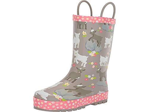 Western Chief Kids Girls' Waterproof Printed Rain Boot with Easy Pull on Handles Around, 11 M US Little Kid