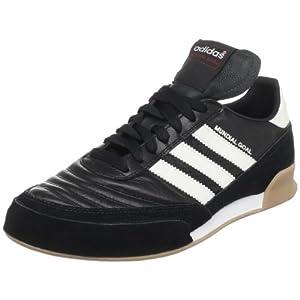 adidas Men's Mundial Goal Soccer Shoe, Black/White/White, 10.5 M US