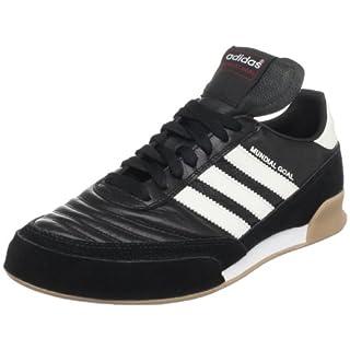 adidas Men's Mundial Goal Soccer Shoe, Black/White/White, 11 M US