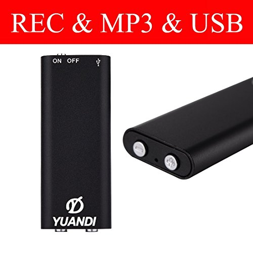 Increase version Digital Voice Recorder / MP3 Player - 16GB USB Flash Drive Dictaphone - with Direct Audio Playback Option(16GB)