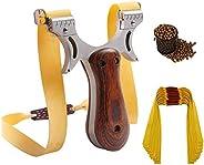 GSERA Adult Catapult Slingshot, Wooden Slingshot for Catapult Hunting Exercise, Catapult Hunting Slingshot wit