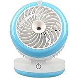 Sunnytech®Mini Portable Misting Fan CoolingHumidifier Water Mist System Fan Desktop Rechargeable, 4 Working mode (Blue)