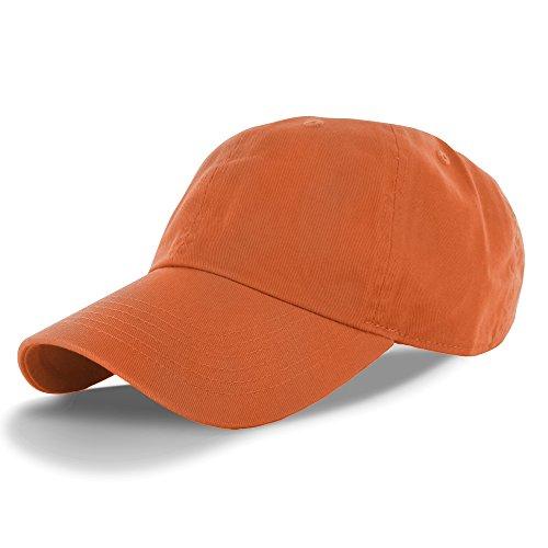 Plain 100% Cotton Adjustable Baseball Cap Rust, One Size