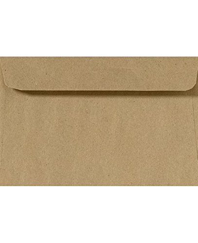 6 x 9 Booklet Envelopes - 100% Recycled - Grocery Bag Brown (1000 Qty.)