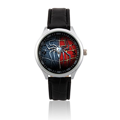 Fashion Adult Wrist Watch Leather Band PSL244 Marvel The Avengers Superhero Spiderman 3 #2W