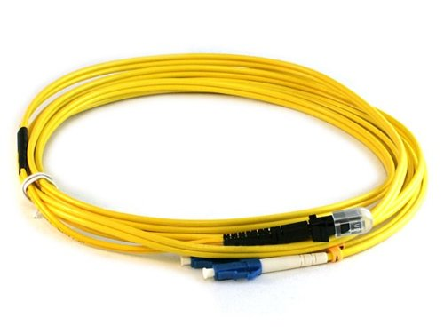 Monoprice 105211 3-Meters MTRJ/LC Single Mode Duplex Fiber Optic Cable - Yellow - Mtrj Mtrj Single