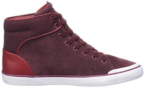 burg Donna Top Hi Lancelle Lacoste Sneaker Rosso ROqng