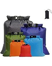 vattentät väska 6 delar packsäck väska vattentät torkväska torrväska för resor forsränning drift simning snorkling camping cykling fiske kajak tillbehör mix färg