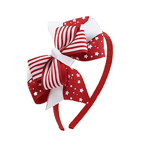 MTENG Bow Headband Tiara Happy Party Decorations Head Hoop 4th of July Decorations American Independence Day