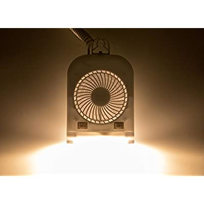 Facon 12 Volt RV Camper Fan and LED Light Combo, High Intensity Reading Light with Holding Bracket and On&Off Switch: Automotive