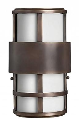 Hinkley 1908MT, Saturn Outdoor Wall Pocket Sconce Lighting, 80 Total Watts, Bronze