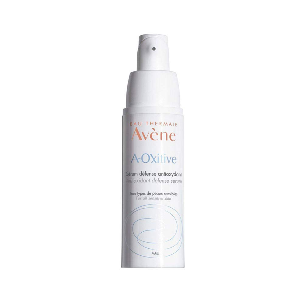 Eau Thermale Avene A-Oxitive Antioxidant Defense Serum, Vitamin C & E, Hyaluronic Acid, Free Radical Protection, 1 oz.