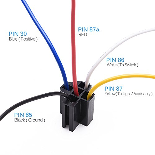 MICTUNING 12V 30/40 Amp 5pin SPDT Automotive Relay with ... on