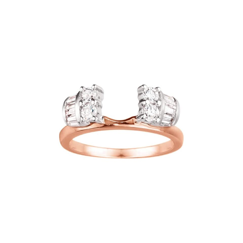 10k Yellow Gold Solitaire Ring Wrap Enhancer (0.86 crt. Cubic Zirconia). Jewelry